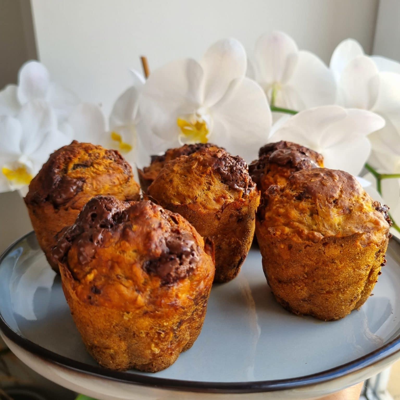 muffins banane chocolat noir